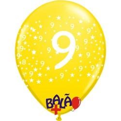 Balão 30cm 9 com estrelas