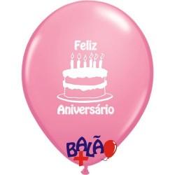 Balão 30cm Bolo Feliz...