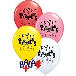 Balão 12'' parabéns notas de musica