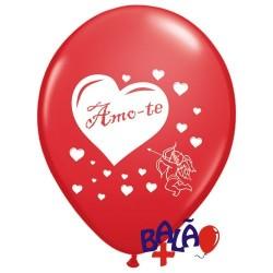 Balão 30cm Amo-te Cupido