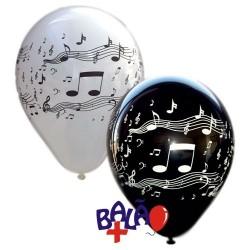 Balloon 30 cm music notes