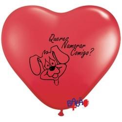 Balão Coração 30cm QNC Cão