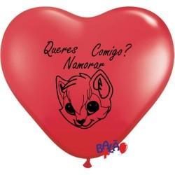 Balão coração 12'' QNC Gata
