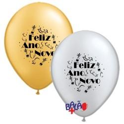 Balão 30cm Feliz Ano Novo