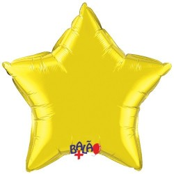 Yellow 9 '' Foil Star Balloon