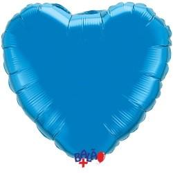 Balão Coração Azul de 18''