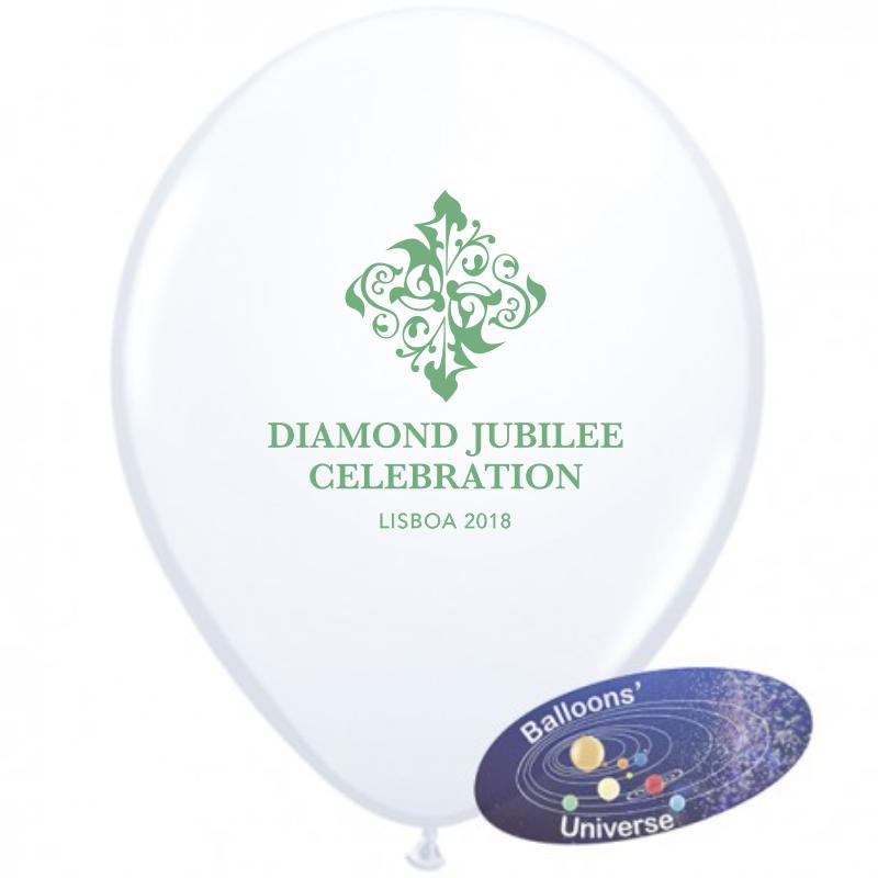 Balão branco personalizado